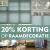 Tot 20 juni 20% korting op raamdecoratie.