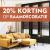 20% Korting op raamdecoratie.